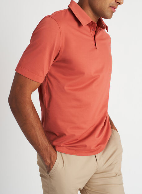 City Tech Polo Tee, Ember | Kit and Ace