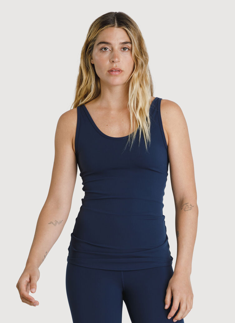 The Base Scoop Tank, Dark Navy | Kit and Ace