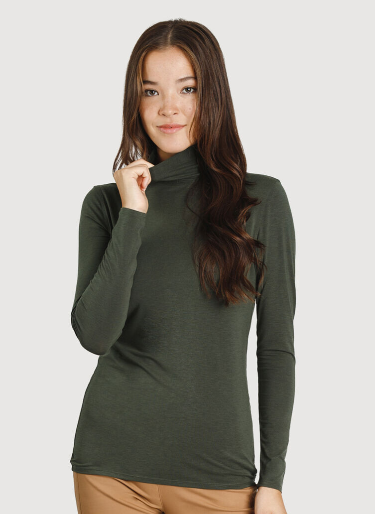 Kit Long Sleeve Turtleneck, Ivy | Kit and Ace