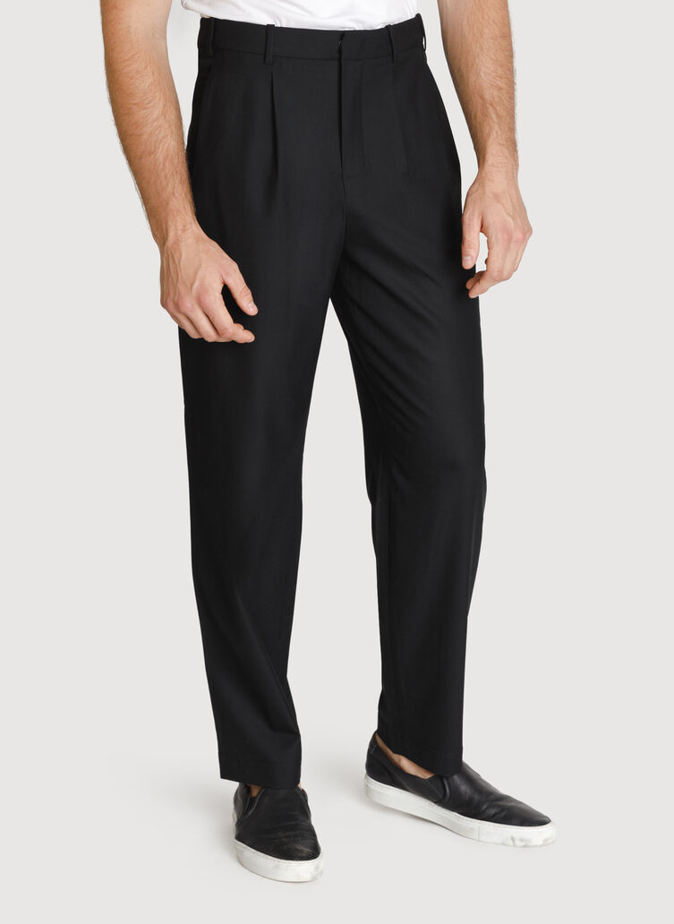 Ace Pleated Trousers, Black | Kit and Ace
