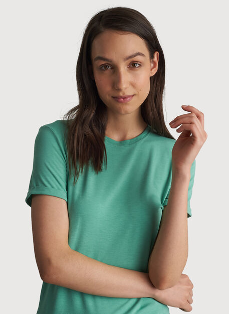 Kit Tech Jersey Crew Tee Relaxed Fit, HTHR Seafoam | Kit and Ace