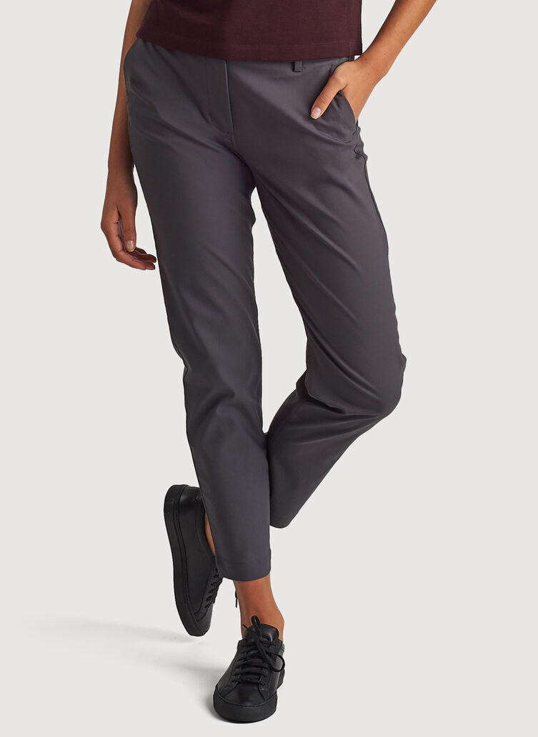 Navigator Ride Ankle Pants Slim Fit, Charcoal | Kit and Ace