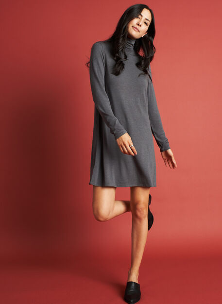 Upgrade Brushed Dress, Heather Charcoal | Kit and Ace