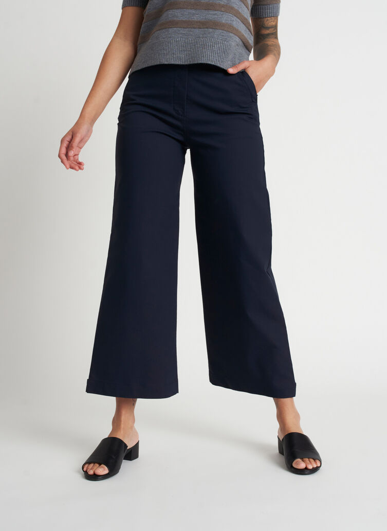 Around Town Crop Pants, Dark Navy | Kit and Ace