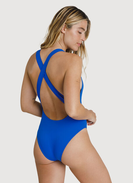 High Neck Swim One Piece, KITS Blue | Kit and Ace