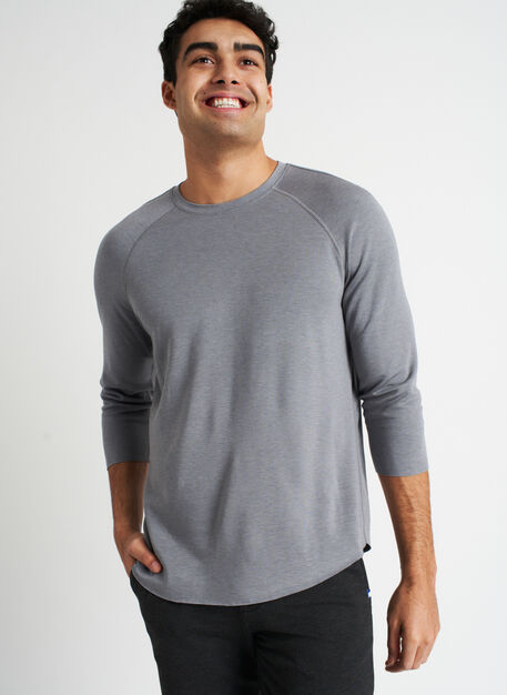 Comfy Brushed Baseball Tee, Heather Shade | Kit and Ace