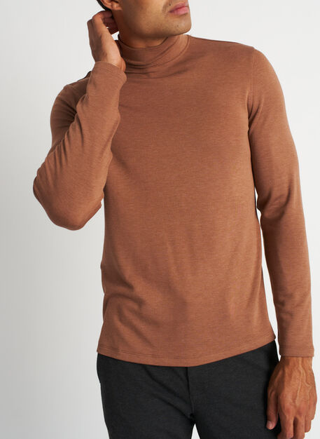 First Class Turtleneck, Heather Toffee | Kit and Ace