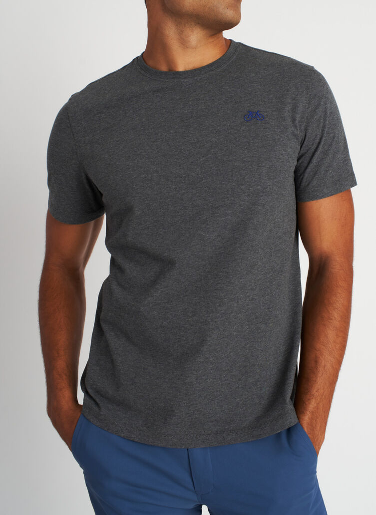 Motion Crewneck Tee, Heather Charcoal | Kit and Ace