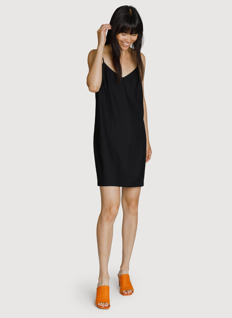 Stretch Slip Dress, BLACK | Kit and Ace