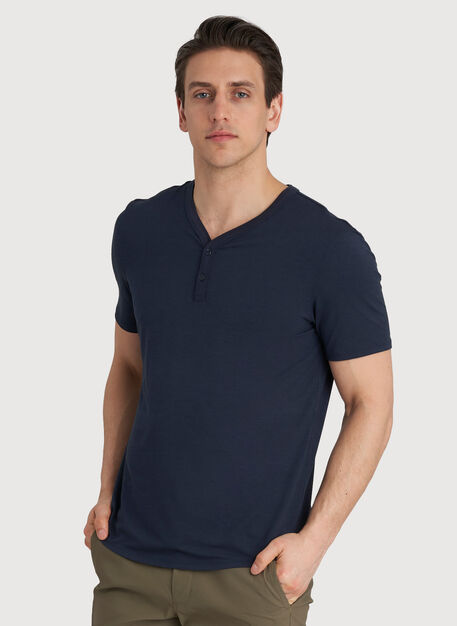 Ace Tech Henley, DK Navy | Kit and Ace