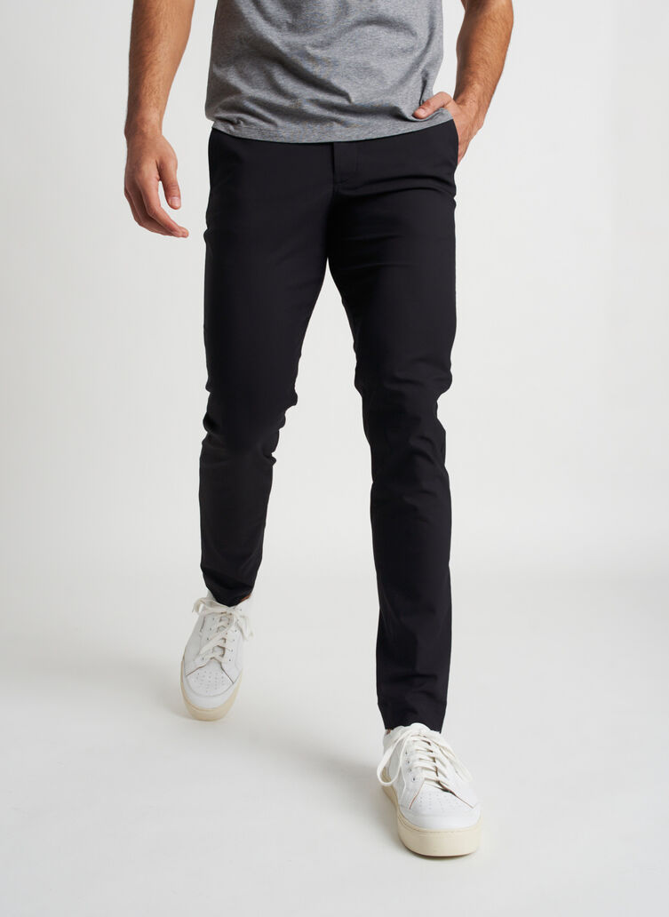 Commute Pants Slim Fit | Navigator Collection, Black | Kit and Ace