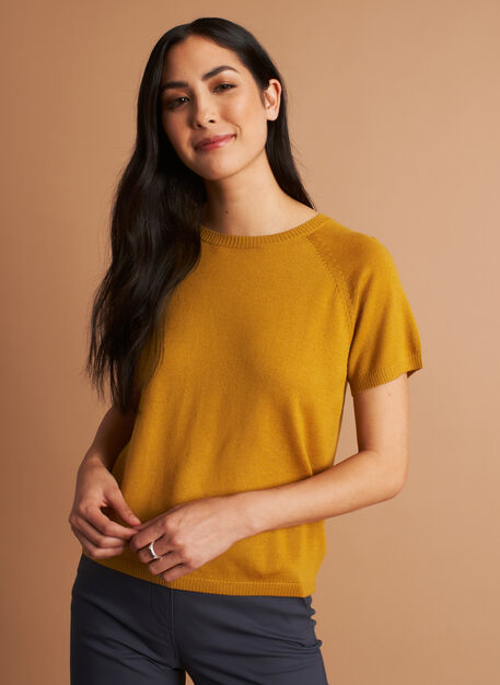 Nicely Knit Tee, Harvest | Kit and Ace