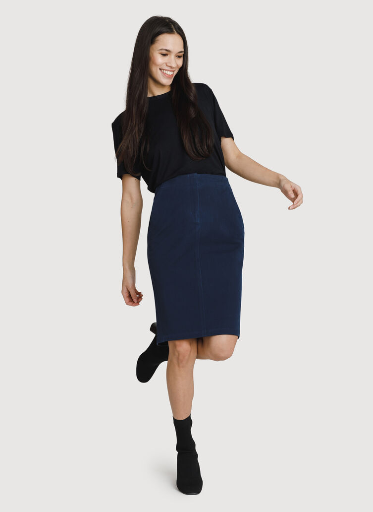 Coast to Coast Skirt, Deep Navy | Kit and Ace