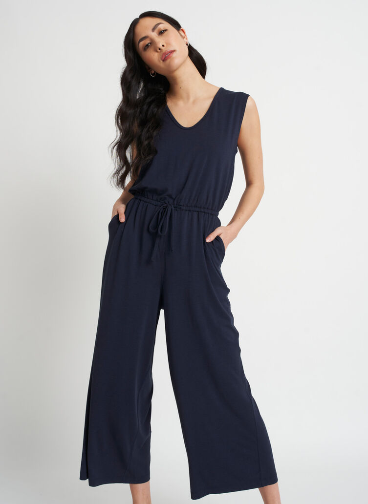 At Ease Jumpsuit, Dark Navy | Kit and Ace
