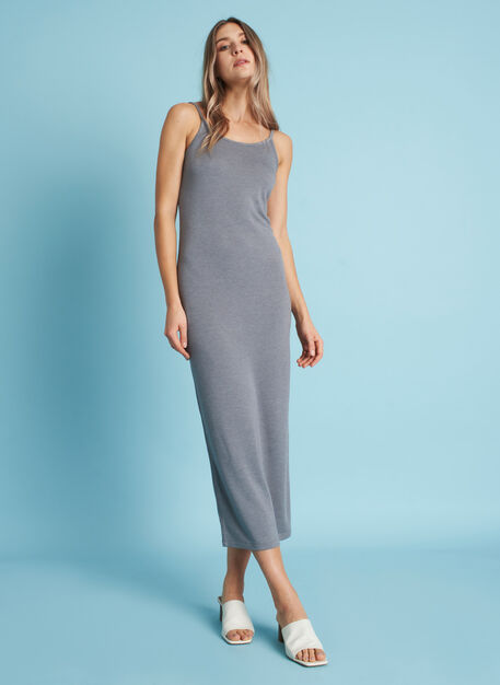 Brushed Midi Dress, Heather Shade | Kit and Ace