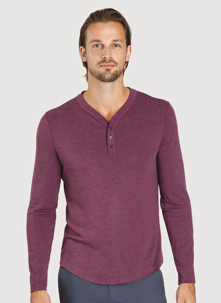 First Class Henley, HTHR Dark Plum | Kit and Ace