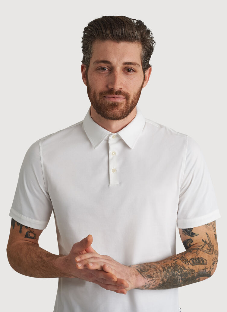 City Tech Polo, Bright White | Kit and Ace