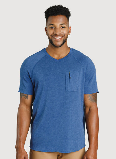 Chillin Tee, HTHR Blue Indigo | Kit and Ace