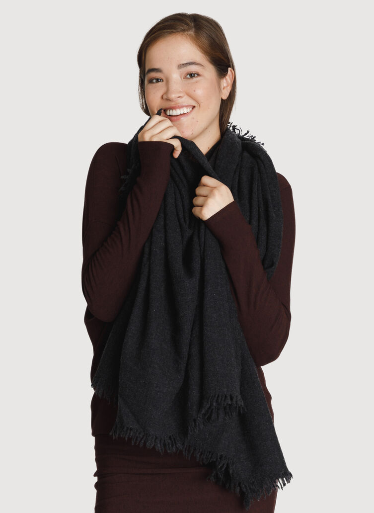 All Over Softness Scarf, HTHR Black | Kit and Ace