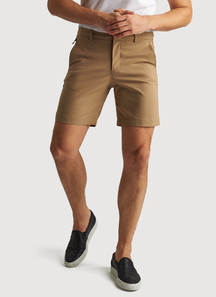 Navigator Commute Shorts 8 Inches, Petrified Oak | Kit and Ace