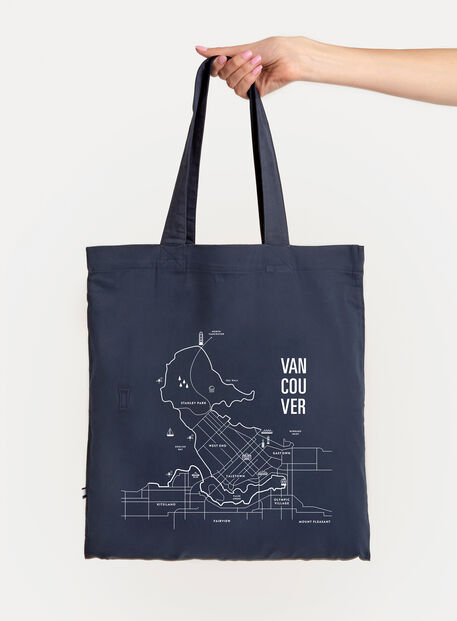City Tote Bag, Navy/Vancouver | Kit and Ace