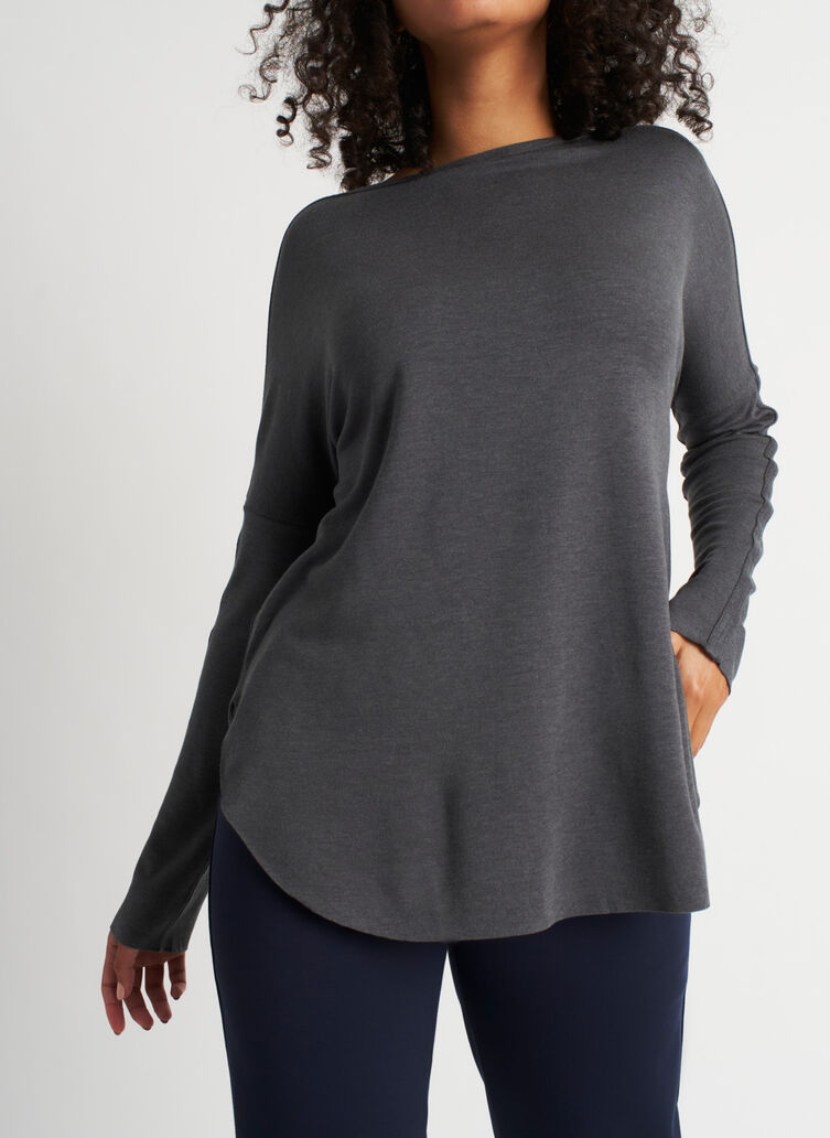 Burrow Pullover, Heather Charcoal | Kit and Ace