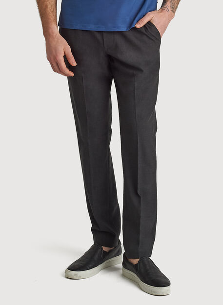 Stretch Suiting Pull-On Pant, HTHR Charcoal | Kit and Ace