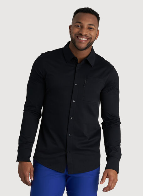 Geared Up Long Sleeve Shirt, Black | Kit and Ace