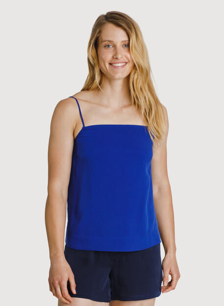 Bike to Office Silk Cami, KITS Blue | Kit and Ace
