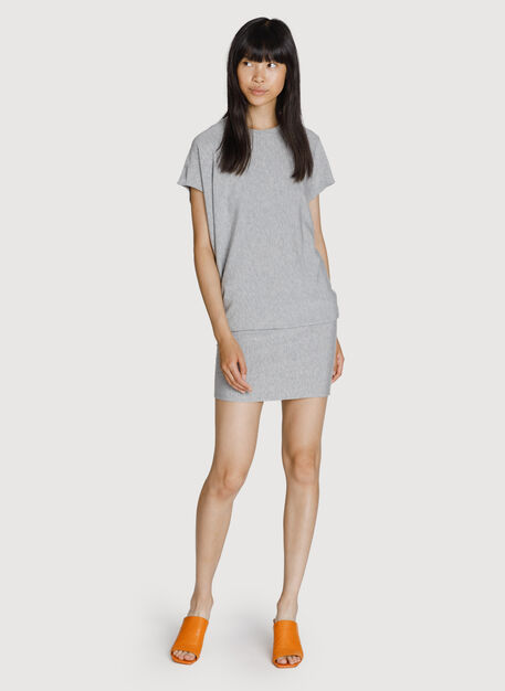 Brushed Wave Dress, HTHR Charcoal Grey | Kit and Ace