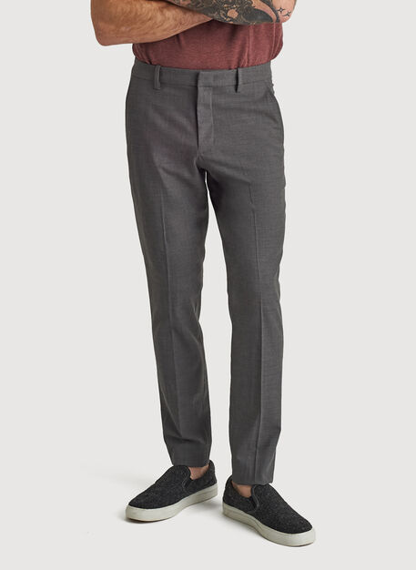 Stretch Suiting Pant, HTHR GREY | Kit and Ace