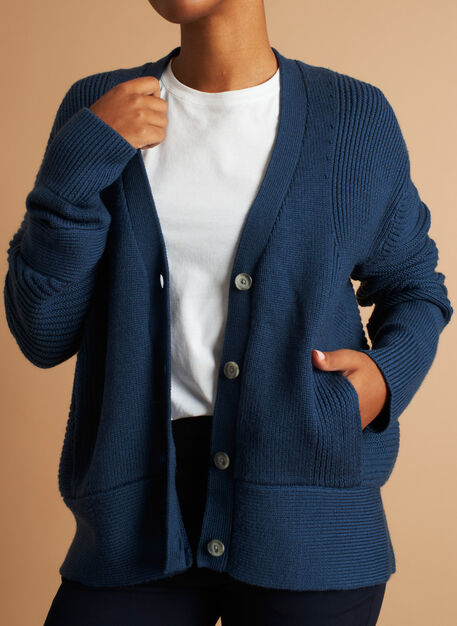Ash Cardigan, Dark Denim | Kit and Ace