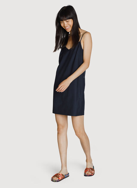 Stretch Slip Dress, DK Navy | Kit and Ace