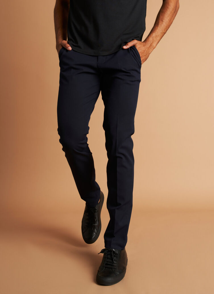 Recycled Suiting Trouser, Dark Navy | Kit and Ace