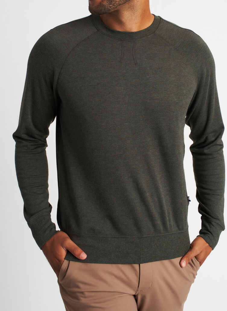 Chillin Pullover, Heather Cedar | Kit and Ace