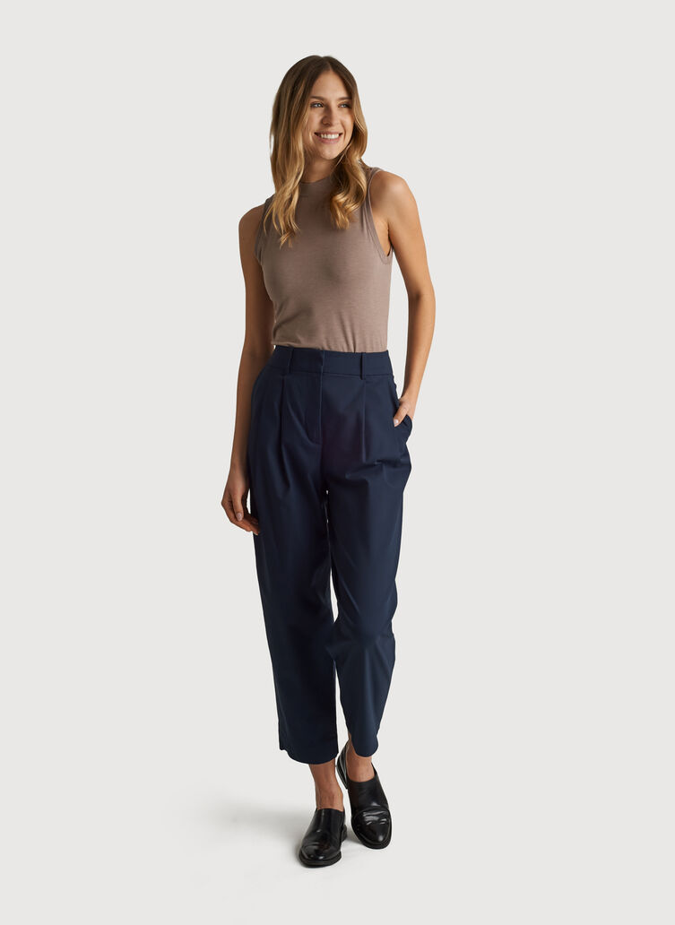 Navigator Ride Pleated Pant, DK Navy | Kit and Ace