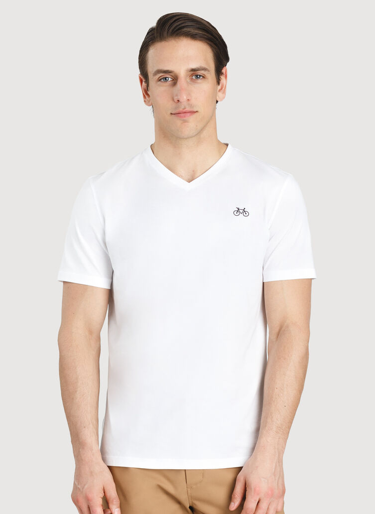 Motion V Tee, Bright White | Kit and Ace