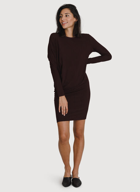 Wave Long Sleeve Dress, HTHR Plum | Kit and Ace