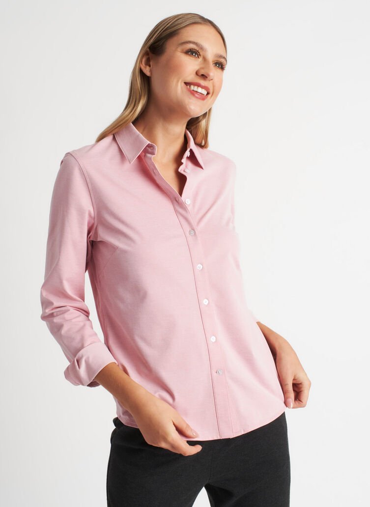 On the Move Classic Blouse, Dusty Rose Chambray | Kit and Ace