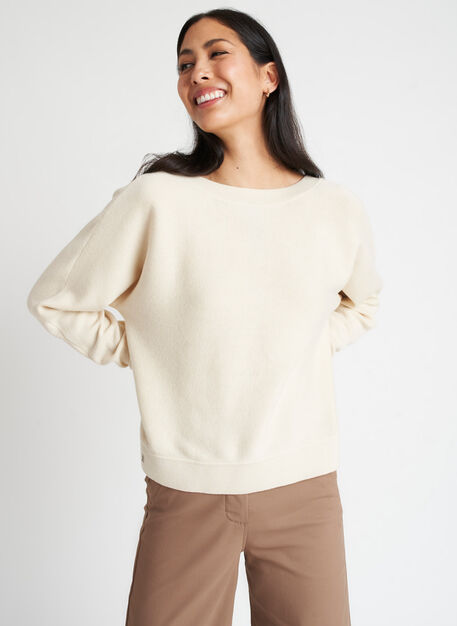 Back to Front Merino Wool Sweater, Beige | Kit and Ace