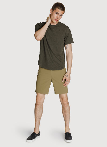 Six Pocket Stretch Short, Olive Moss | Kit and Ace