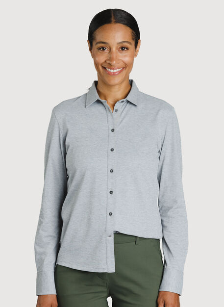 O.T.M. Long Sleeve Button Up, Grey Chambray | Kit and Ace