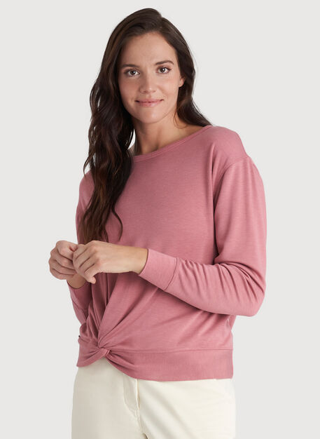 Brushing Up Pullover, Heather Dusty Rose | Kit and Ace