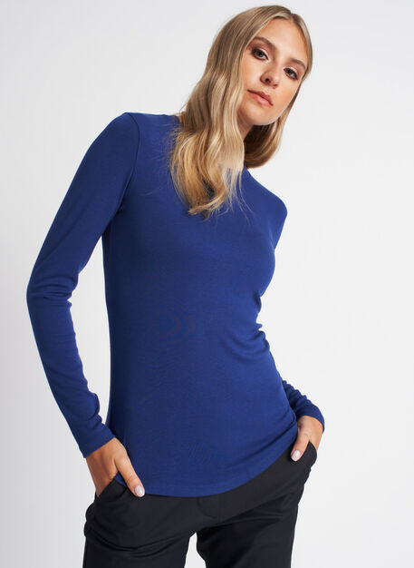Kit Long Sleeve Crewneck Tee, Deep Blue | Kit and Ace