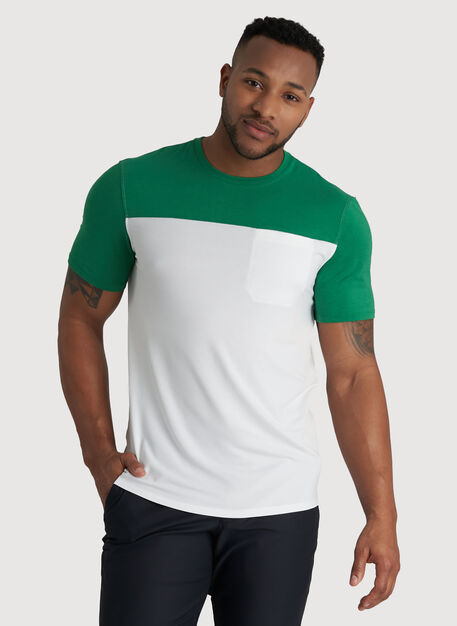 Ace Pocket Crewneck Tee, Bright White/Amazon | Kit and Ace