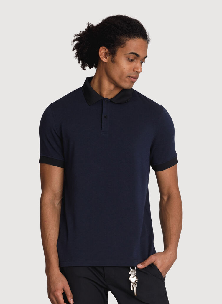 Brushed Polo, DK Navy | Kit and Ace
