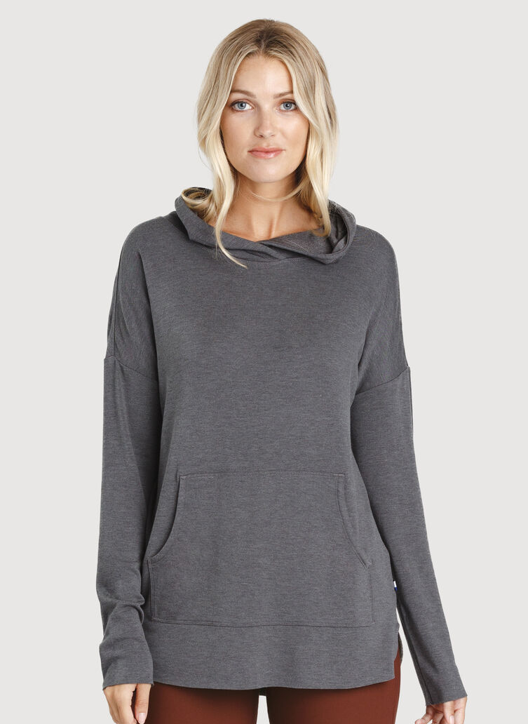 Weekend Hoodie, Heather Charcoal | Kit and Ace