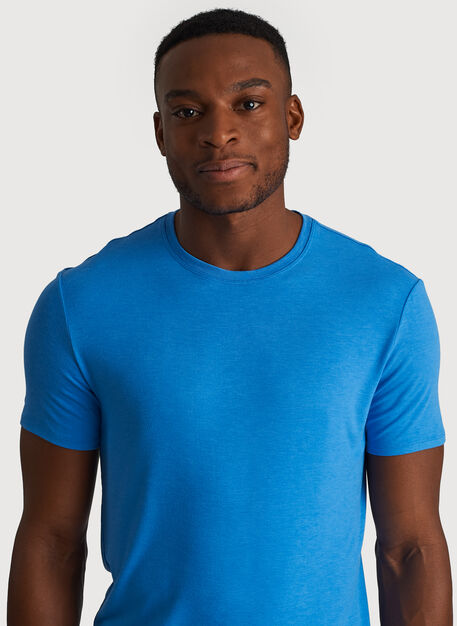 Ace Tech Jersey Crew Tee Standard Fit, Heather Sail Blue | Kit and Ace