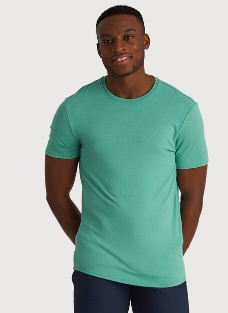 Ace Tech Jersey Crew Tee Standard Fit, HTHR Seafoam | Kit and Ace
