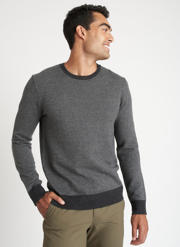 Every Day Merino Sweater, HTHR CHARCOAL/HTHR GREY | Kit and Ace